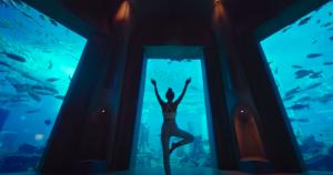 Underwater hotel room in Dubai, Atlantis the Palm.